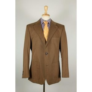 Burberry Barcelona 44R Tan Cotton Sport Coat 44-C